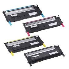 ASet Compatible Dell 1230C 1235CN Toner Cartridges KCMY