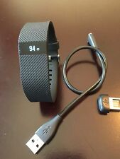Fitbit Charge Heart Rate (HR) Large Black, Dongle & Cord.