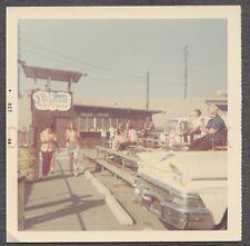 Vintage Color Photo 1958 Ford Car at JB Kart Raceway Sign 665894