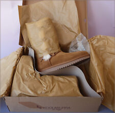 Koolaburra by UGG Women's Victoria Tall Boots Bows 1015875 Suede Chestnut Sz 10