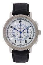 Gigandet Herrenuhr Red Baron IV Uhr Armbanduhr Leder Schwarz Weiß G19-004