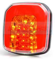 WAS W145 NEON LED REAR SQUARE TRAILER COMBINATION TAIL LAMP + NUMBER PLATE LIGHT