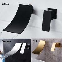 Gold/Matte Black/Chrome Bathtub Basin Mixer Faucet Wall Mount Single Handle Taps