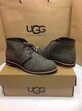 UGG AUSTRALIA WOOLRICH TWEED HERRINGBONE CHOCOLATE ANKLE BOOTS SIZE 7 US