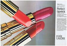 PUBLICITE ADVERTISING 094 1990 ESTEE LAUDER rouge à lèvres   (2 pages)