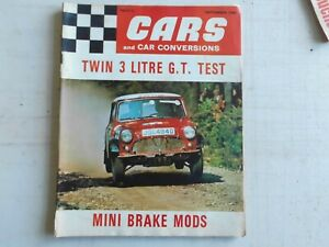 CARS AND CAR CONVERSIONS MAGAZINE  SEPTEMBER 1969, MINI, MARCOS, TVR, TRIUMPH
