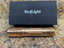ReyLight Copper Lan V3 LED Flashlight 6 Trit slots Nichia 219c 4000k Battery Inc