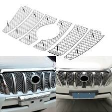 6pcs Stainless Steel Front Grille Grill Bezel Mesh Cover For Toyota Prado 2014