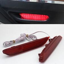2 Red Len LED Rear Bumper Brake Fog Light For Nissan X-trail T32 2014~2017