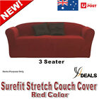 SUREFIT Couch Cover 3 Seater Sofa Stretch Slip Cover 188 to 244cm RED