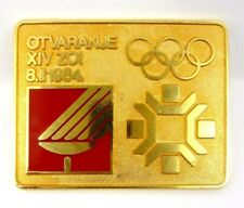 SARAJEVO 1984 WINTER OLYMPIC GAMES OPENING CEREMONY OFFICIAL PIN BADGE