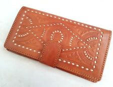 Handtooled carved genuine handmade ethnic leather wallet purse for women 5pcs