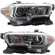 TOYOTA TACOMA 2016-2017 LEFT RIGHT HEADLIGHTS HEAD LIGHTS LAMP W/LED DRL PAIR