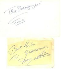 The Stargazers June Marlow Dave Carey signed autograph pages British vocal group