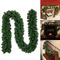 2.7M Xmas Tree Garland Rattan Ornaments Christmas Rattan Wreaths Fireplace Decor