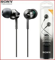 SONY MDR-EX110LP BLACK Deep Bass Stereo In-Ear Headphones Original /Brand New