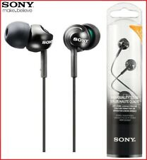 SONY MDR-EX110LP BLACK Deep Bass Stereo In-Ear Headphones Original /Brand New
