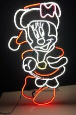 Gemmy Disney LED Lighted Minnie Mouse Sculpture Window Christmas Sign 29""