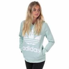Women's adidas Originals Trefoil Regular Fit Hoodie Sweatshirt in Green