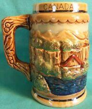 Vintage Lusterware Beer Mug Souvenir Canada Niagara Falls 3-D Graphic Japan