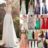 Women Long Lace Evening Formal Cocktail Party Ball Gown Prom Bridesmaid Dress