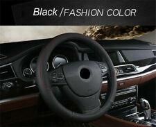 Black PU Leather Car Steering Wheel Cover Anti-slip Protector 4-Season Universal
