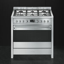 SMEG COOKER A1-9 STAINLESS STEEL MULTIFUNCTION OVEN 90cm 6 GAS HOBS