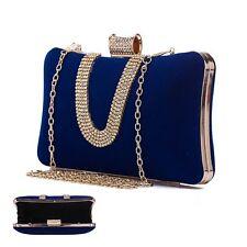 Women Handbag Glitter Evening Clutch Bag Wedding Bradal Party Banquet Purse Blue