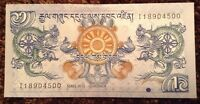 World Banknote. 1 Ngultrum. Uncirculated.