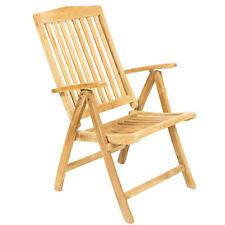 "GRADE A Teak Wood w Five Position Reclining Folding Chair [22.5"" x 25"" x 41.5""]"