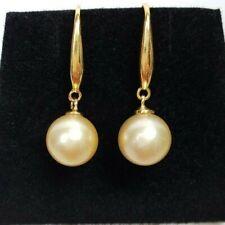 Genuine 8.8mm Australian South Sea Pearl Earring, 18k gold hook, cultured pearls