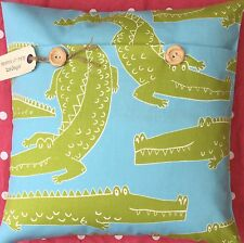 "Scion ""In a While Crocodile"" Handmade cotton cushion cover (Kitch/contemporary)"