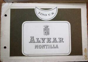 Alvear, Montilla Sherry 1920 Original Art/Hand-Painted Bottle Label Designs-PAIR