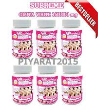 6 X SUPREME GLUTA WHITE 1500000 mg V-SHAPE FACE HEALTHY WHITE SKIN +Tracking..