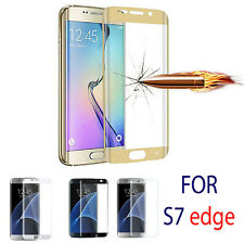Full Curved 3D Tempered GLASS Screen Protector FOR Samsung Galaxy S7 Edge GOLD