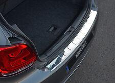 Per adattarsi VW VOLKSWAGEN POLO 2009 + 6R: CROMATO PARAURTI POSTERIORE Sill PROTECTOR coperchio TRIM