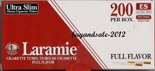 1 Box LARAMIE ULTRA SLIM Cigarette Filter Tubes 200 tubes per pack SIZE 6.5X80