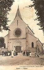"""CPA BONDY (93140) - L'église """"Au Rendez-vous du Marché"""", Maison Girerd"""