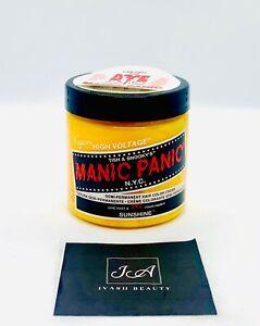MANIC PANIC LIVE FAST AND DYE SUNSHINE SEMI-PERMANENT HAIR COLOR CREAM  4 OZ