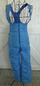 70's Vintage Swing West Blue Bib Ski Snowboard Overalls Snow Pants Jumpsuit XS