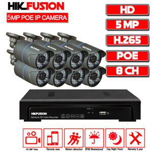 8CH X 5 MP PoE IP Camera H.265 NVR Security Camera CCTV Surveillance System AU