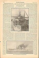 1904 U. S. BATTLESHIP OHIO SPEED TRIALS