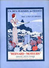 1934 Publicité Moto-Pompe BERNARD-MOTEURS. Henri Faivre