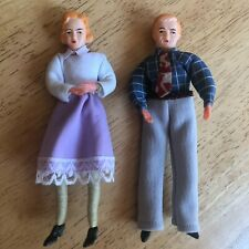 Vintage Caco man and woman figures for miniature dollhouse in great condition
