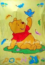 WINNIE THE POOH DOUBLE SIZE CHARACTER MICROFIBER BLANKET NEW