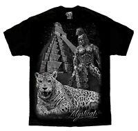Azteca Jaguar Warrior Mexico Chicano Art David Gonzales T Shirt