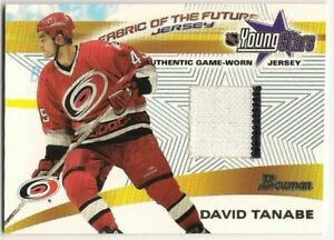 David Tanabe 01-02 Bowman YoungStars Fabric of the Future Game Worn Jersey 2c