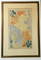 Krystyna Smiechowska Lithograph Queen of Clubs Framed Art Print Woman Goddess