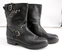 Cara London Black Silver Studded Boots Size 7.5 . CLICKSITB259JA