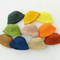 Baby Sun Hat for Girls Boys Summer Tollder Beach Hats Kids Straw Bucket Cap